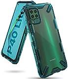 Ringke Fusion-X Diseñado para Funda Huawei P40 Lite (2020), No para Huawei P40 Lite 5G ** PC Transparente + Parachoque TPU, Carcasa Antigolpes Huawei P40 Lite (6.4 Pulgadas) - Verde (Turquoise Green)