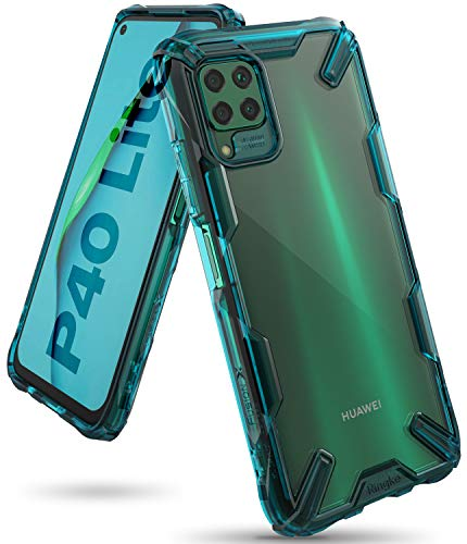 Ringke Fusion X Case Designed for Huawei P40 Lite (NOT for Huawei P40 Lite 5G) - Turquoise Green