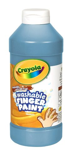 Crayola Fingerpaint, Blue, 32 Ounces, Washable Kids Paint, Ages 3+ (55-1332-042)