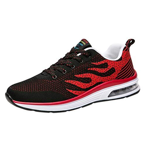KERULA Herren Damen Sneaker Sportlich Fitness MeshAtmungsaktiv Luftkissen Trekking Laufschuhe Sportschuhe Turnschuhe Joggingschuhe on Running Schuhe Fitnessschuhe Freizeitschuhe