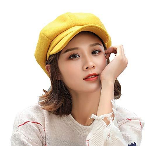 Flow.month Women's Wool Beret Painter Hat Octagonal Cap Hats French...