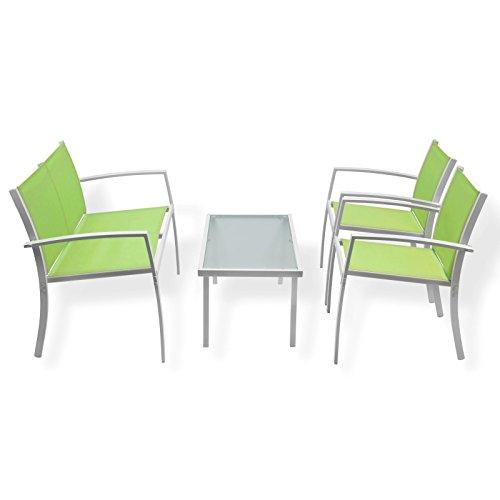 Sitzgruppe MIAMI Grün NEU Sitzgarnitur ideal für Terasse & Balkon Lounge-Set