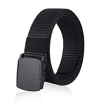 MIJIU Nylon Belts for Men 1.5inch Military Tactical Belt Adjustable Slide Plastic Buckle Web Canvas Belt Outdoor