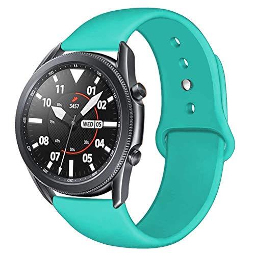 YGGFA Correa de 20/22 mm para Huawei Wtach GT 2/2e 42/46 mm para Samsung Gear S3/S2/Sport Silicona Pulsera Band Galaxy Watch 46mm/42mm/Active 2 (color de la correa: menta, ancho de la correa: 22 mm)