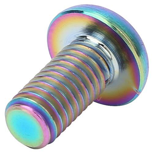 resistente al desgaste duradero 5pcs / paquete Aleación de titanio M5 * 12 Pernos de jaula de botella de agua de bicicleta M5 * 10 Tornillos de freno de disco para montar en senderos para(M5*10 color)