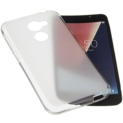 foto-kontor Tasche für Vodafone Smart N8 Gummi TPU Schutz Handytasche transparent weiß