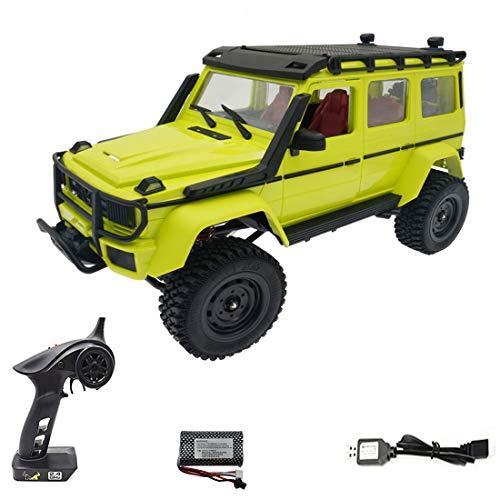 Camión teledirigido Offroad MN86KS 4WD 1/12 RC Coche RC Crawler Camión RTR – Verde luminoso / batería individual