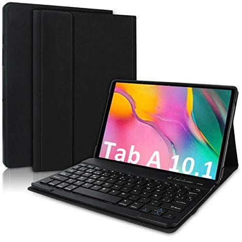 COOLEAD Custodia Tastiera Italiana per Samsung Galaxy Tab A 10.1 2019 T510   T515 Cover Tastiera Bluetooth per Samsung Galaxy Tablet A 10.1 2019 Rimovibile Wireless Cover con Tastiera 10.1  Keyboard