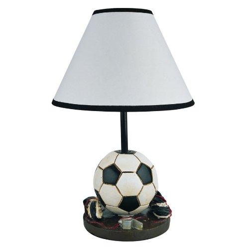Soccer Table Lamp Girls Boys Kids Room Decorative Light
