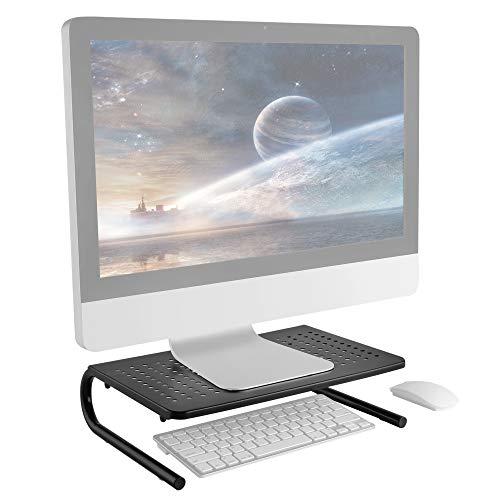 RICOO FS082-B Soporte Monitor Escritorio Elevador para Pantallas PC Base de pie Universal Pedestal Mesa Portatil Laptop Monitores Ordenador