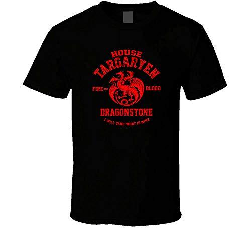 New Team Targayen Fire and Blood Shirt Black