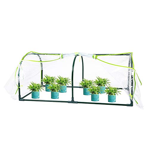 LaFlora Mini Greenhouse Portable for Indoor Outdoor Gardens Vegetable Plant Seeds Growing 47'x24'x20'