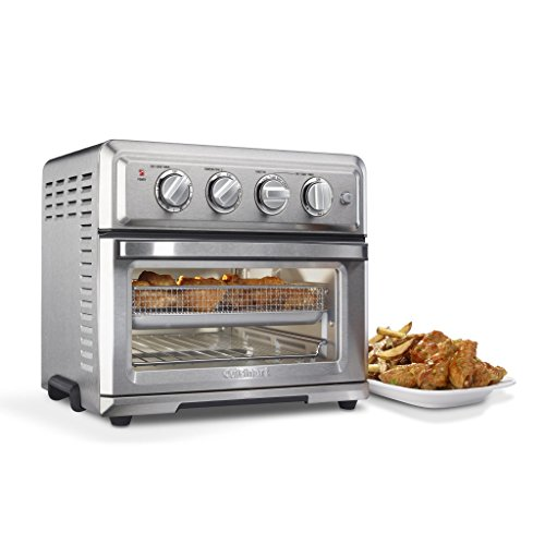 """Cuisinart TOA-60 Convection Toaster Oven, 15.5""""(L) x 16.0""""(W) x 14.0""""(H) AirFryer, Silver"""