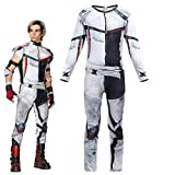 Heariao Jay Carlos Descendants 3 Costumes Jumpsuit Bodysuit for Boys Halloween Christmas Cosplay Costumes (Gray, 8-9 Years)