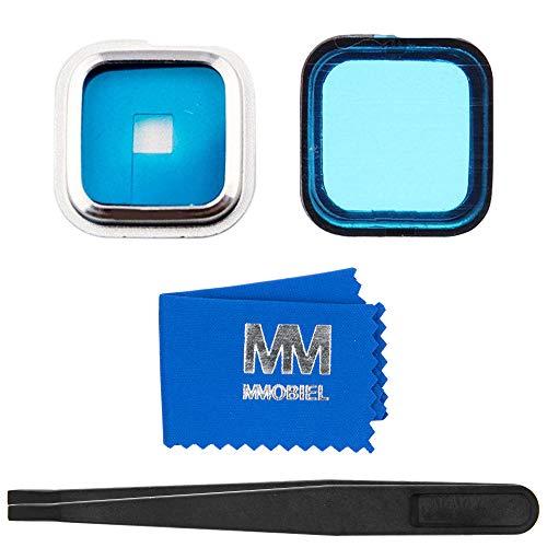 MMOBIEL Rück Back Kamera Linse mit Cover Ersatz mit Pizette und Tuch kompatibel mit Samsung Galaxy S5 G900 Series