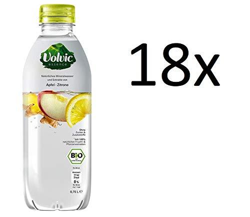 Volvic Essence BIO Apfel Zitrone Ingwer 18 x 750ml inc. EINWEG Pfand