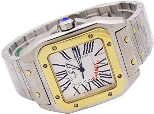 GFDSA Automatische horloges Luxe merk Heren Automatische mechanische saffier Roestvrij stalen horloges Zilver Goud Bezel Witte wijzerplaat 40 mm