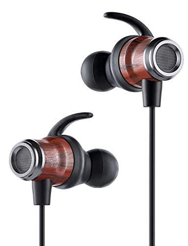 JOVERS Ear Buds Earphones in Ear Headphones Wired Earbuds with Microphone Mic Stereo and Volume Control Waterproof Metal Wired Earphone for Earphone Earbud Tablet Laptop 3.5mm-Black