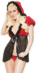 Braguitas Y Pantalones Interiores Deportivos Para Mujer Disfraces De Navidad Para Mujer Ropa Interior Sexycosplay Ropa Interior Femenina Lingerie Wide Plus Size Clubwear-Black_And_Red_One_Size