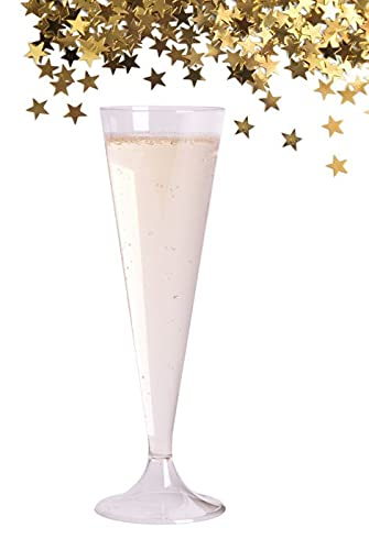 50 Flûtes à champagne plastique transparentes/Cristal-Réutilisables