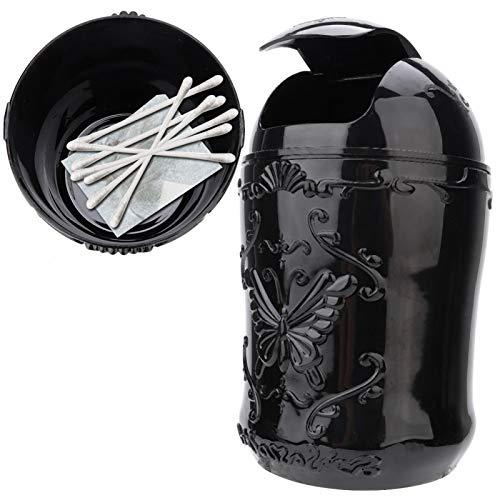 Caixa de armazenamento de maquiagem, lata de lixo portátil de boa aparência, lata de lixo de bancada, lata de lixo minúscula, para uso doméstico e uso amplo.