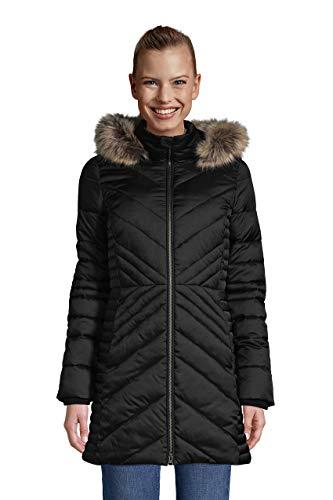 Lands' End Womens Plush Insulated Coat Black Regular X-Large