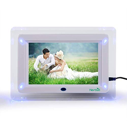 VN Stores 7 Inch TFT LED Wide Screen Digital 2000 Photos Display Frame with Remote Control with Calendar Support TF SD/SDHC/USB Flash Drives and 32GB SD Card Support