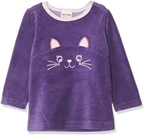 Schnizler Baby-Mädchen Sweat-Shirt Nicki Katze Sweatshirt, Violett (Lila 19), (Herstellergröße: 86)