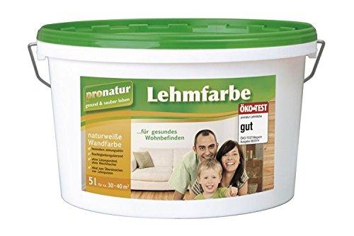 pronatur Lehmfarbe Naturfarbe Wandfarbe weiß 5l