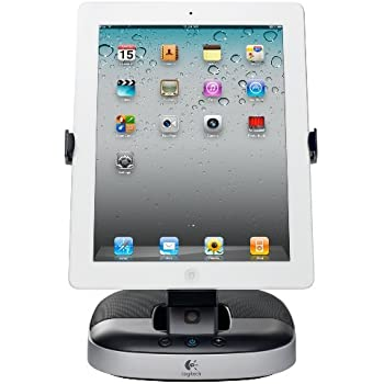 Logitech HalterungLautsprecher schwarz silber (für iPad, iPad 2 und iPad 3. Generation, Tablets)