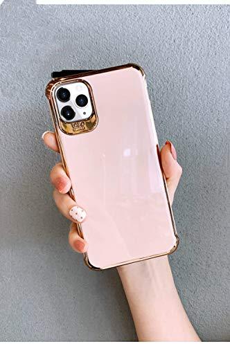 LIUYAWEI Estuches de teléfono con Soporte de originalidad de Diamantes de imitación de Lujo para iPhone 12 Mini 12 Pro MAX 11 Pro X XR XS Funda máxima para iPhone 7 8 P SE2, Funda Rosa, para iPhone 7