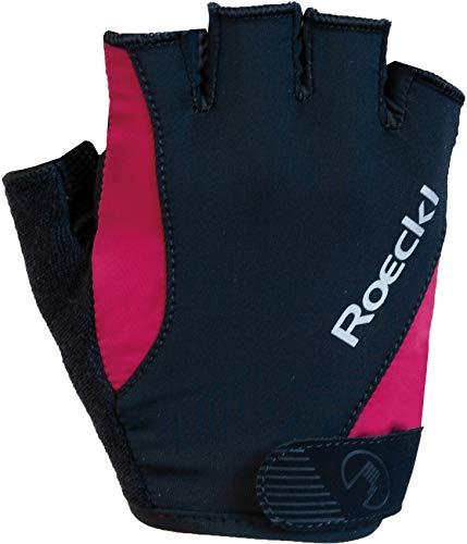 Roeckl 2020 Basel - Guantes Cortos de Ciclismo, Color Negro y Rosa,...