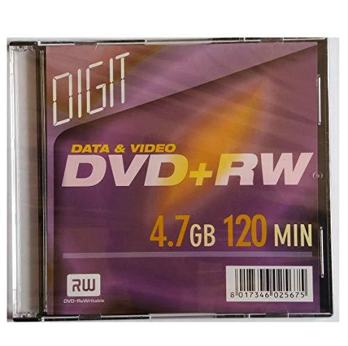 1X DVD+RW 4.7GB 120MIN riscrivibile CON SLIM BOX disco ottico DVD