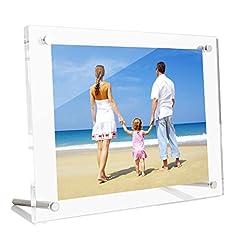 NIUBEE アクリルフォトフレーム 写真立て A5判 スタンドタイプ 透明 写真フレーム 卓上展示ピクチャー、ポスター、絵画、賞状 148x210mm