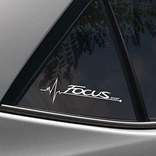 FSXTLLL Auto Fenster Aufkleber Autoaufkleber Sticker, für Ford Focus 2 3 1 MK2 MK3 MK1