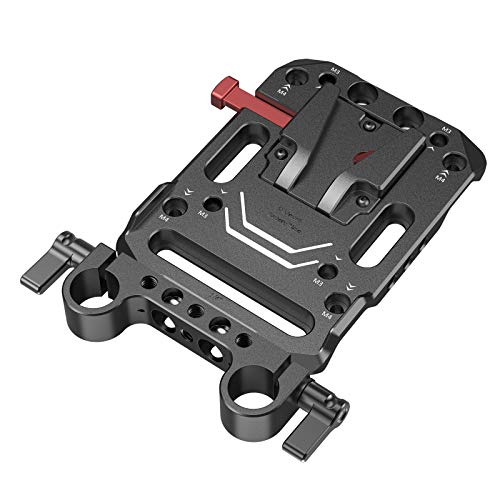 SMALLRIG V-Lock Mount Battery Plate with Dual 15mm Rod Clamp - 3016