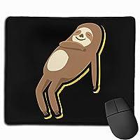 マウスパッド 楽しい ナマケモノ Mousepad ミニ 小さい おしゃれ 耐久性が良 滑り止めゴム底 表面 防水 コンピューターオフィス ゲーミング 25 x 30cm