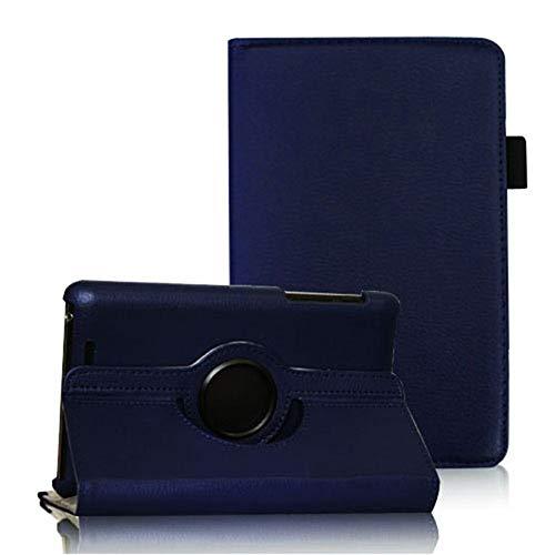COOVY® Cover für Google ASUS Google Nexus 7 (1. Generation Model 2012) Rotation 360° Smart Hülle Tasche Etui Case Schutz Ständer Auto Sleep/Wake up | dunkelblau