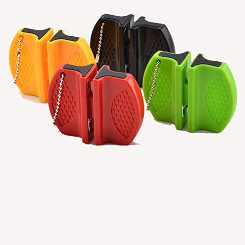H&RB 4 Pcs Mini Portable Céramique Tige en Acier De Tungstène Camp Poche Cuisine Couteau Aiguiseur Outils Accessoires