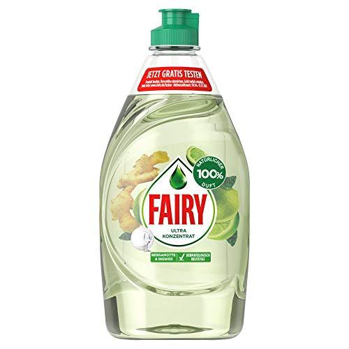 Fairy Spülmittel (430 ml) 100 % natürlicher Duft von Bergamotte & Ingwer, mit effektiver Formel für sauberes Geschirr und Fettlösekraft