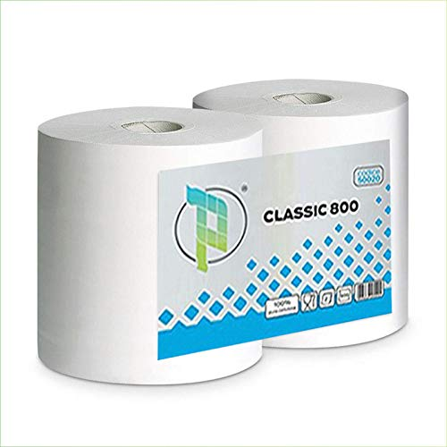 Virsus kit 2 bobine di carta rotoloni industriali asciugamani pura cellulosa bobina asciugatutto varie quantità (1)