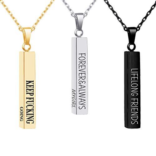 MissChic Namenskette, Silber Personalisierte Kette,18K Rosegold/Gold Vergoldet Kette mit Name, Geschenk für...