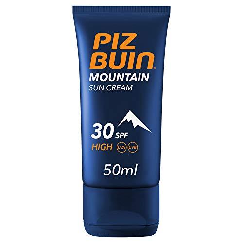 Piz Buin, Crema Solare Montagna, Protezione Alta 30 SPF, Filtro Solare UVA/UVB e Protezione Vento e Freddo, Mountain Sun Cream, 50ml