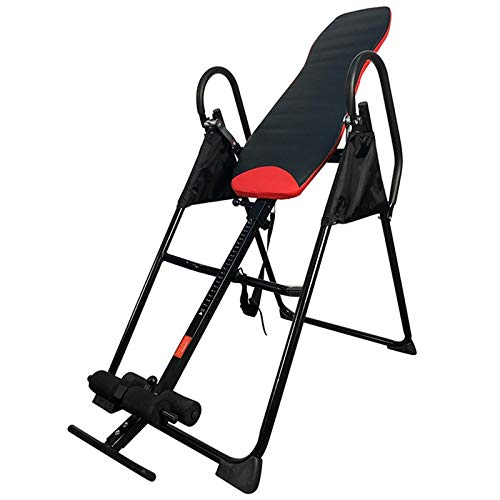 LQQ Foldable Inversion Table Gravity Heavy Duty Inversion Equipment Therapeutic Back Stretcher Machine Home Gym Trainer Chairs for Pain Relief Therapy