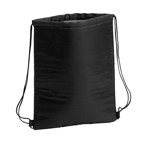 sin4sey, 2 borse termiche per sport, borsa frigo con pellicola isolante (nero)