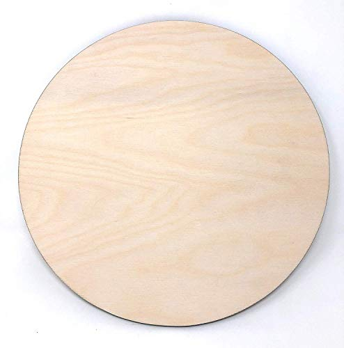 Gocutouts 10' Wooden Circle Cutouts Unfinished 1/4' Baltic Birch Package of 6 (10' 1/4 Package of 6)