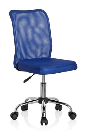 hjh OFFICE 685969 Kinder-Drehstuhl KIDDY NET Stoff/Netz Blau Kinderschreibtischstuhl mitwachsend, ohne Armlehnen