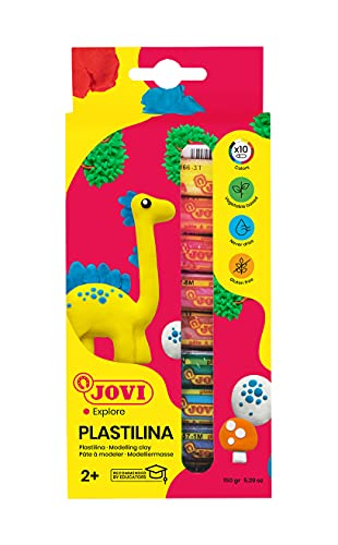 Jovi- Plastilina, Color 10 surtidos, Colors (216005)