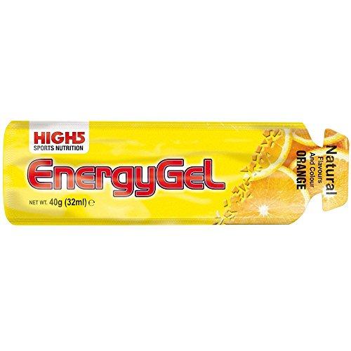 High5 Nutrition Energy Gel (Pack of 20) - Orange, 38 g by High 5