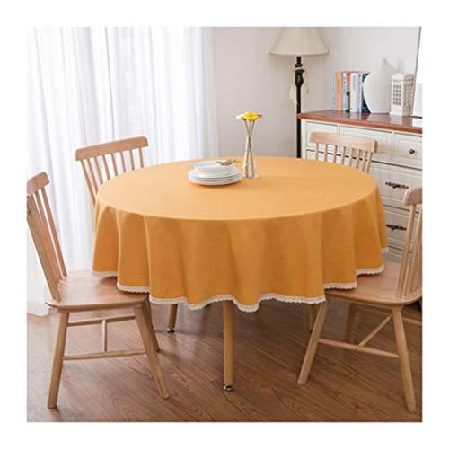 Tafelkleed Casa Round Orange Belle Lino eettafel